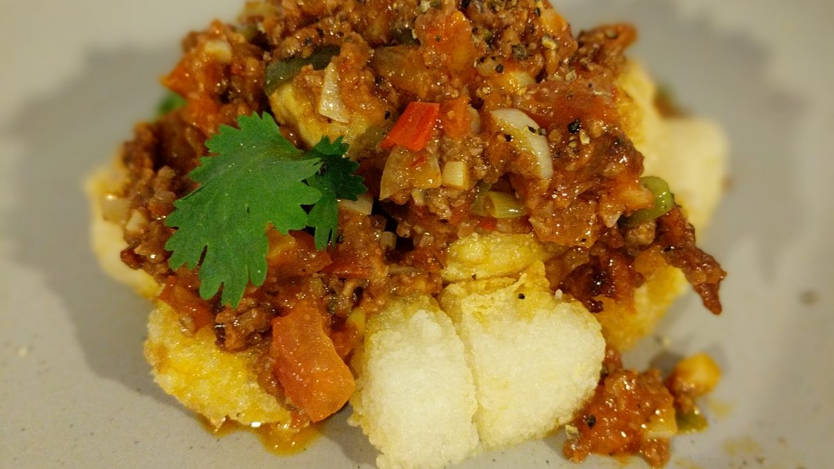 Recipe: Sweet Beef Mince with Crispy Tofu