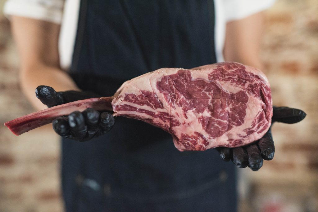 Recipe Black Angus Tomahawk Steak In A Coffee Peppercorn