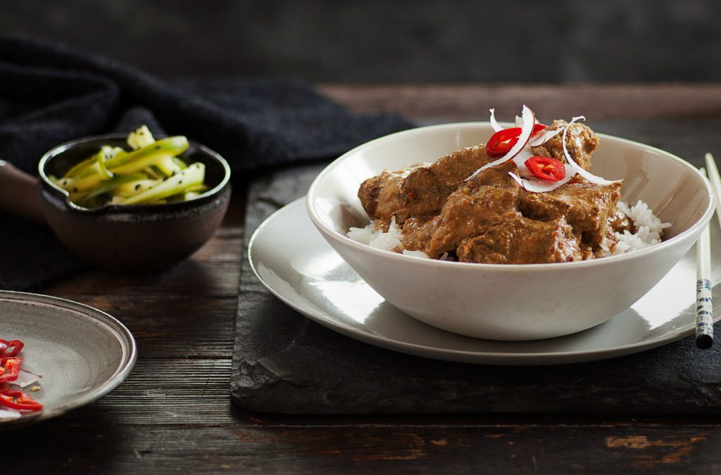 Recipe: Beef rendang with pickled cucumber