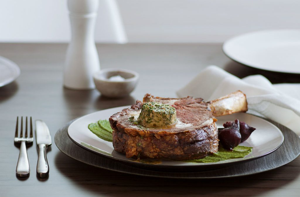 Recipe: Roasted rib eye with café de paris butter