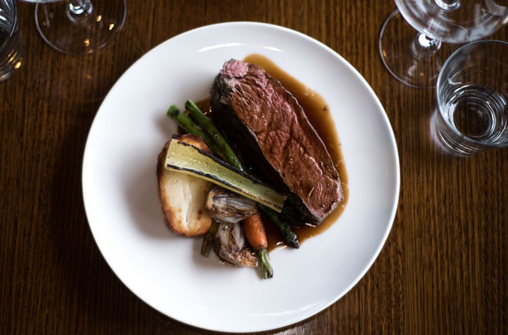 Recipe: Simon Street's sous vide delmonico with roast vegetables and homemade jus