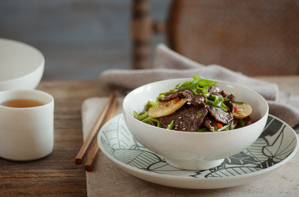 Recipe: Stir fried beef with asparagus and bamboo shoots
