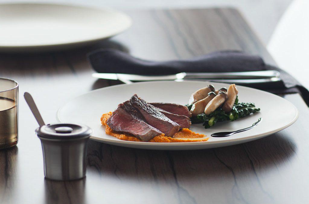 Recipe: Waygu steak with carrot puree, mushrooms
