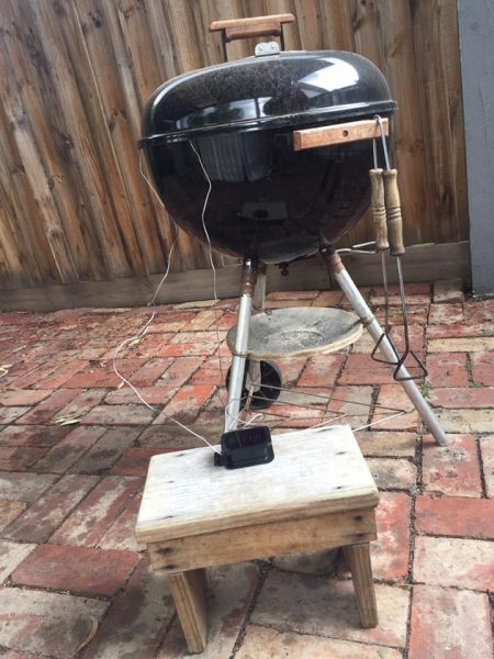 leave in meat thermometer in kettle bbq